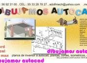 Levantamientos en autocad dibujo planos electricidad redes video monitoreo