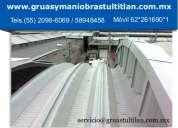 Desmonte de arcotechos y techos industrales