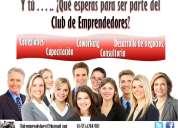 Club de emprendedores. conexiones, capacitacion, consultoria en negocios.