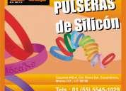 pulseras de silicón