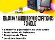 Soporte técnico en sistemas de computo, pcs, laptops a domicilio
