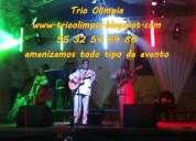 Contratar trios musicales en el df y area metropolitana