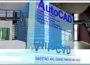 Clases de autocad 2d para principiantes y avanzados 3d, a domicilio.