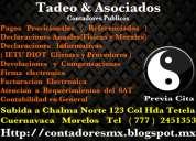 Contadores publicos cuernavaca tadeo & asociados