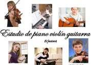 Clases de guitarra piano violín bajo batería tijuana