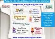 Etiquetas para marcar ropa y artículos de niños