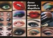 Curso aprende a maquillarte curso personalizado o en grupo. material incluido.