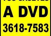 Del cassette al disco - conversión a dvd 50 pesos
