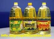 aceite de cocina, aceite vegetal crudo y aceite de cocina usado (ventas)