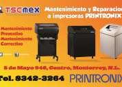 Mantenimiento y reparacion a impresoras printronix en monterrey