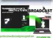 Servicios  grabacion de video corporativo video conferencias video transmisiones en vivo