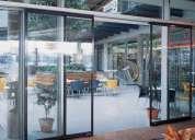 Puertas sociales corredizas para centros comerciales,plazas,edificios u hospitales