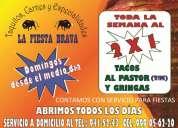 Servicio de tacos al pastor para fiestas la fiesta brava