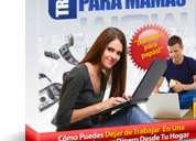 Ebook trabajo desde casa para mamas