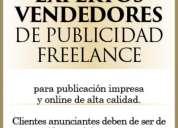 Expertos vendedores de publicidad freelance