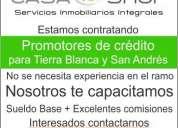 Promotor de crédito para zona de tierra blanca y san andrés tuxtla, ver.