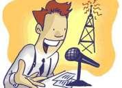 Locutor o talento de voz. medio tiempo!