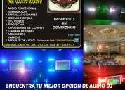 Audio e iluminacion dj karaoke