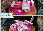 Tender diaper - avión de pañales - figuras con pañales