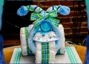 Tender diaper - triciclo de pañales - figuras con pañales