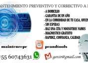 Mantenimiento preventivo y correctivo a computadoras a domicilio