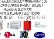 Aires acondicionados, minisplit, boilers y regaderas electricas